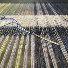 Hemstitching scarves on the loom in time for Flock @thebarn_arts next week #textiles #weaving #madeinscotland #scotland #handmade #wool #choosewool #craft #slowfashion #zerowaste #flock #shoplocal #aberdeenshire #arratextiles