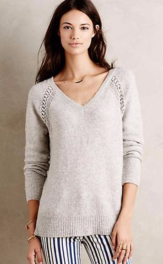 Raglan Boucle V-Neck #anthrofave