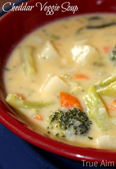 Kid Friendly Cheddar Veggie Soup Recipe