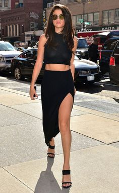 Selena Gomez flashed a mean lean leg while out on the streets of NYC.