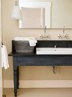 bench bathroom sink