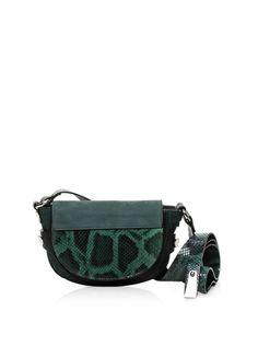 Francesco Biasia Biasiette Embossed Leather Shoulder Bag