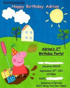 #Peppa Pig Party Invite
