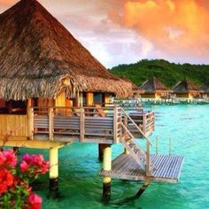 10 DAYS IN TAHITI & BORA BORA - True Romantic Escape! Bora Bora is a gorgeous small volcanic island in the Pacific Ocean in French Polynesia. Bora Bora's boundless beauty attracts many touris. Vacation Places, Honeymoon Destinations, Dream Vacations, Places To Travel, Honeymoon Spots, Bora Bora Honeymoon, Honeymoon Ideas, Italy Vacation, Holiday Destinations