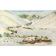 1950s Vintage Postcard Sun Valley Lodge and Challenger Inn