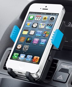 Black & Blue Universal Smartphone Car Mount | New iPhone, new car mount. This should fit, too.