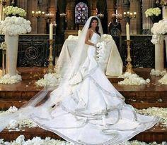eva longoria wedding dress
