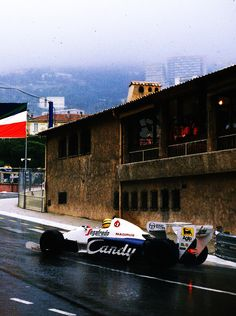 Ayrton Senna - Toleman Hart - Toleman Group Motorsport - XLII Grand Prix Automobile de Monaco - 1984 FIA Formula 1 World Championship, round 6 San Marino Grand Prix, Gilles Villeneuve, Monaco Grand Prix, Fast Times, Drifting Cars, F1 Racing, Thing 1, Automobile, Car And Driver