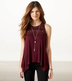 Burgundy tank, be really pretty with a black or tan cardigan and dress pants