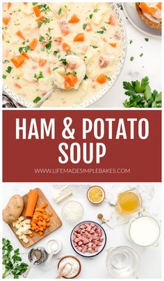 This deliciously creamy Ham And Potato Soup is like a big hug in a bowl! It's sure to warm you up on a chilly day.#hamandpotatosoup #soup #hamsoup #fallrecipe Ham And Potato Soup, Ham Soup, Potato Cheese Soups, Fall Recipes, Hearty Soup Recipes, Brunch Recipes, Broccoli Soup, Broccoli Cheddar, How To Make Ham