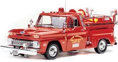 1965 Chevy C20 Fire Truck (Sun Star) 1/18