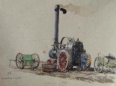 Eckenbrecher-Dampfmaschine-Dreschen-Landwirtschaft-Gross-Wustrow-Pommern-Ruegen