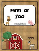 Farm or Zoo Matching Activity - Have Fun Teaching