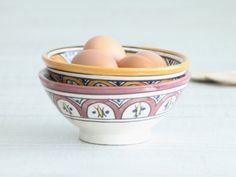 moroccan pottery. boles de cerámica de marruecos. dar amïna blog