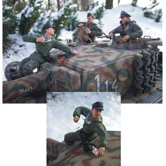 Tiger Crew Scratchbuilt 1/35 scale by Uwe Henning from: missing-lynx #scalemodel #plastimodelismo #plasticmodel #plastimodelo #miniatura #miniatur #miniature #diorama #hobby #plastickits #usinadoskits #udk #modelismo #modelism #modelisme #scalemodelkit #tigercrew