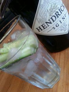 Hendricks G&T with cucumber