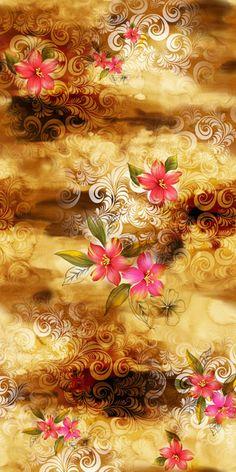 Flowery Wallpaper, Love Wallpaper, Pattern Wallpaper, Flower Backgrounds, Wallpaper Backgrounds, Wallpapers, Filipino Art, Fabric Print Design, Floral Prints
