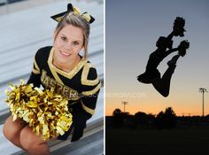 Jasper, IN Senior Pictures, Cheerleading Photography, Cheer Silhouette | Lacey Reimann Photography