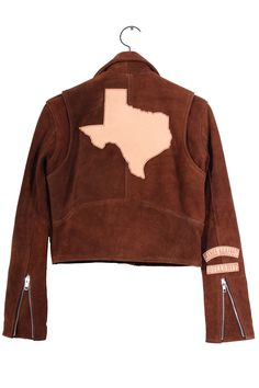 Texas Babes Against Bullshit, Cropped Custom Jacket. Vegetable tanned laser engraved patches on drum dyed suede moto jacket. Riders Jacket, Motorcycle Jacket, Suede Moto Jacket, Easy Rider, Bullshit, Laser Engraving, Custom Made, Texas, Spring Summer