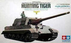 Tamiya German Hunting Tiger 1/35 Scale Classic Model Series. (No Motor)