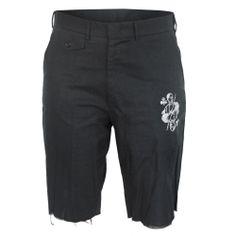 LIBERTINE $580 Johnson Hartig men's jack of clubs long black linen shorts sz.M #Libertine #CasualShorts