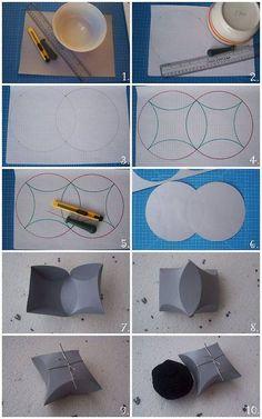 So könnt ihr im Handumdrehen kleine Geschenkboxen einfach selber machen :) (gesehen auf jolanta-jovena.blogspot.ca)