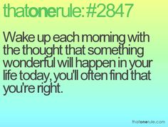 Wake up with positivity
