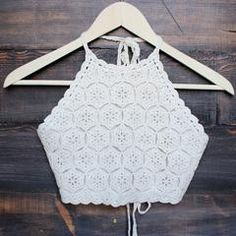 sahara crochet crop halter top - sand - shophearts - 2