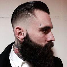 Sharp cuts and beards on Pinterest
