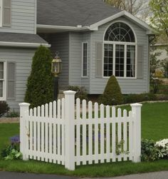 """Highwood Pottsville decorative corner picket fence (Recycled eco-friendly synthetic wood in white) by Highwood. $685.39. recycled eco-friendly plastic (proven performance in even the harshest climates). • Proudly hand-crafted in the USA by Amish woodworkers - the textured look of real-wood without the maintenance headache (highwood? is """"Nature's Closest Rival""""...never paint or stain again). • Durable and weather-resistant; Backed by a 12-year warranty for re..."""