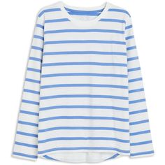 Striped T-shirt ❤ liked on Polyvore featuring tops, t-shirts, stripe tee, striped t shirt, striped top, striped tees and organic cotton tee