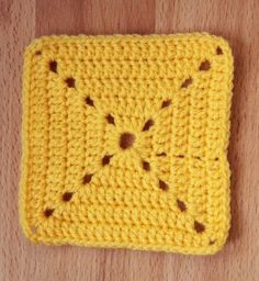 Easy and fast granny square (with diagram)