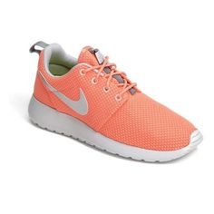 Women's Nike 'Roshe Run' Sneaker ($71) ❤ liked on Polyvore featuring shoes, sneakers, nike, lightweight shoes, cushioned shoes, lightweight sneakers and nike sneakers