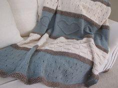Seaside Blanket Pattern  knit blanket knit by TheKnittingCloset, $6.00