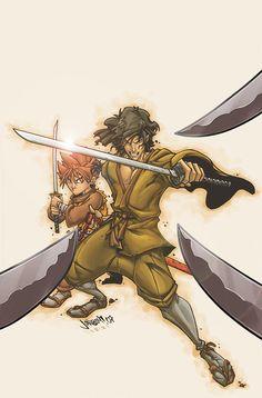 Ninja Scroll - comic book art