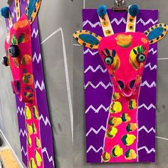 I am loving this new Giraffe project! #kidsartprojects #artteacher #art #giraffeart
