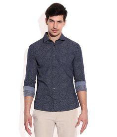 Celio Navy Cotton Casual Shirt Dapper, Casual Shirts, Shirt Dress, Cotton, Mens Tops, Stuff To Buy, Shopping, Fashion, Moda