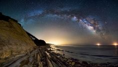 A Galaxy Rises out of the Ocean - Picture taken in Gaviota, California