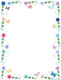 Free Printable Flower Border Stationary: