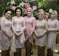 New Party Outfit Engagement Ideas Kebaya Modern Hijab, Kebaya Hijab, Kebaya Brokat, Kebaya Muslim, Muslim Dress, Kebaya Lace, Kebaya Dress, Batik Kebaya, Dress Brukat