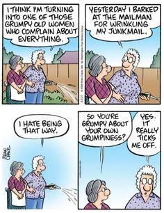 Make Sense, Getting Old, Old Women, Comic Strips, That Way, Haha, Comics, Funny, Getting Older