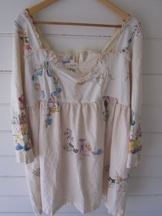 Vintage Linen Prairie Dress MegbyDesign