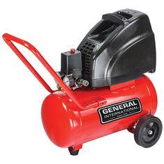 General International 1.5hp 6-gallon Horizontal Air Compressor