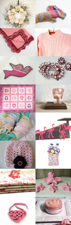 Pretty in Pink by Kathy Lindemer on Etsy--Pinned with TreasuryPin.com