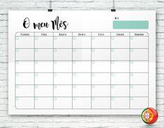 Organize-se! Faça o download e imprima estes modelos de listas de tarefas (diárias, semanais e mensais). Diy Agenda, Agenda Planner, Student Planner, Monthly Planner, Printable Planner, Planner Stickers, Planners, Bullet Journal 2, Body Shop At Home
