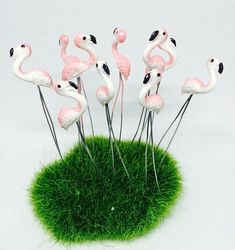 Set of 10 Miniature garden party supplies fairy garden terrarium decor accessories  Ready to ship. - Handmade item - Materials: Made from Plastic