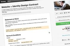 5 Essential Contract Templates for the Freelance Designer    Source: http://designmodo.com/contract-templates-freelance-designer/#ixzz28QkbEqLp