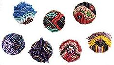 beaded+buttons | beaded buttons by Robin Atkins, bead artist