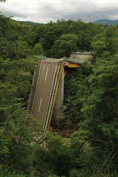 Bridge to nowhere. 37 Images Of The Eerily Beautiful Way Nature Reclaims What We...