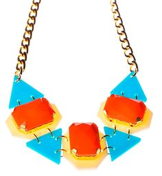 Orange Drops Statement NecklacePlexiglass by bugga on Etsy, $45.00